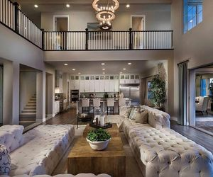 diningroom, kitchen, and luxurious living image