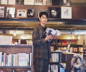 actor, asian boy, and books image
