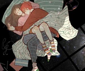 couple, anime, and mystic messenger image