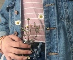 daisy, jacket, and jeans image
