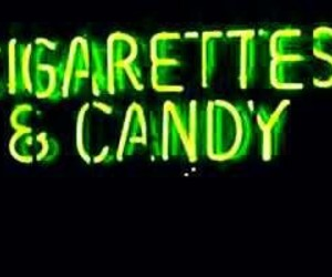 cigarette, candy, and neon image