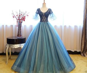 beautiful, dresses, and navy blue image
