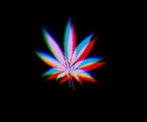 weed, smoke, and black image