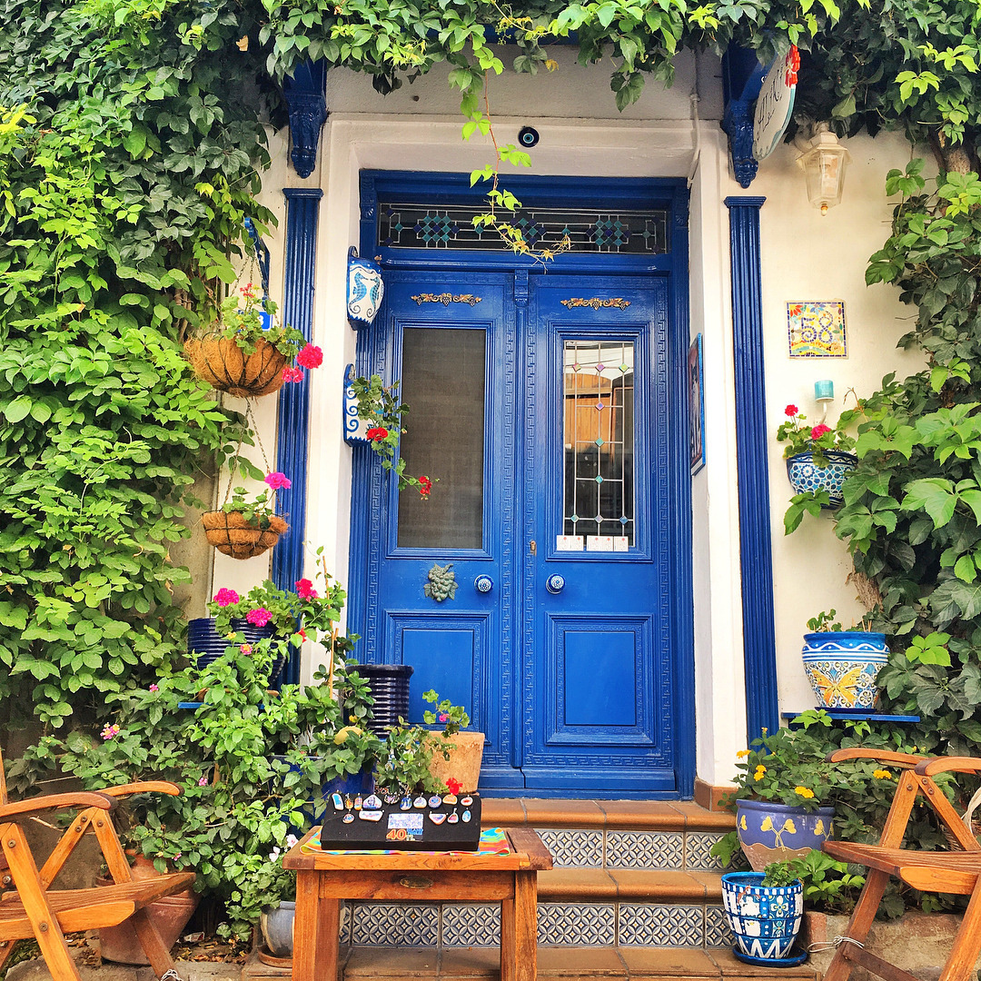 blue door, Country House, and cozy image