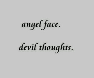 quotes, Devil, and angel image