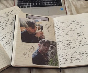 blonde, him, and writing image