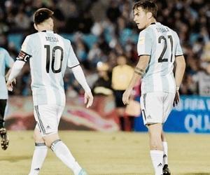 football, messi, and dybala image