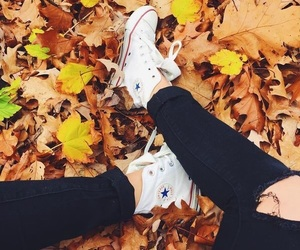 autumn, fall, and converse image