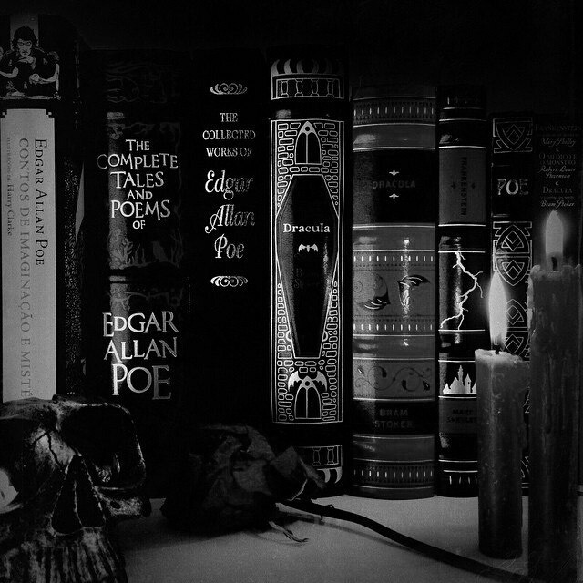 books, black, and gothic image