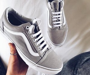 shoes, vans, and grey image