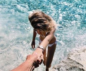 summer, beach, and couple image