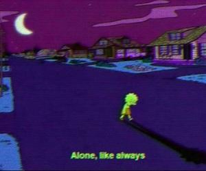 alone, lisa, and sad image