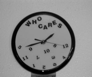 care, clock, and Who image