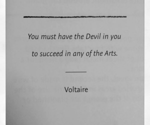 quotes, Devil, and voltaire image