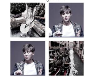 asian boy, gray, and kpop image