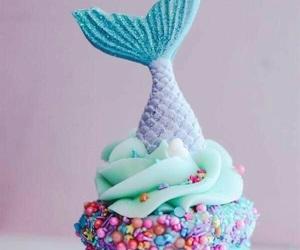 cupcake, food, and mermaid image