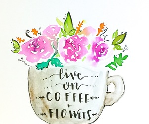 art, calligraphy, and coffee image