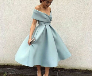 dress, blue, and style image
