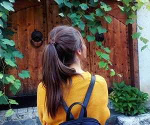 autumn, backpack, and beautiful image