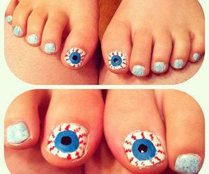 Halloween, halloween toes, and halloween toe nails image
