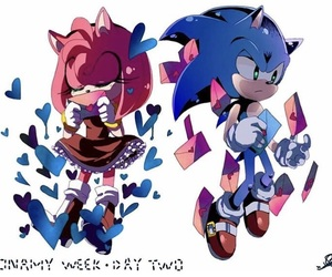 sonic, the hedgehog, and amy rose image