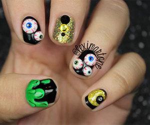 Halloween, halloween nail art, and halloween nails image