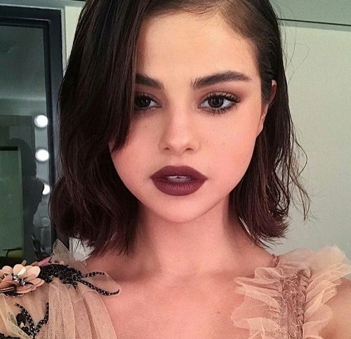 article, burgundy, and makeup image
