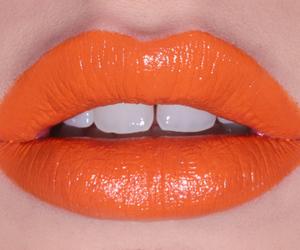lips, lipstick, and orange image