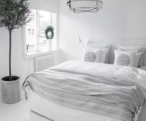 bedroom, white, and interiors image