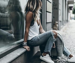casual, fashion, and hair image