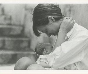 baby, jane birkin, and mother image