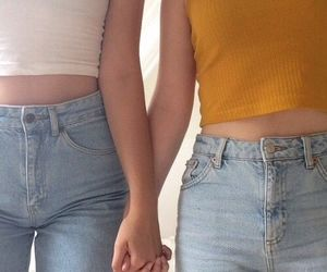 girl, couple, and jeans image