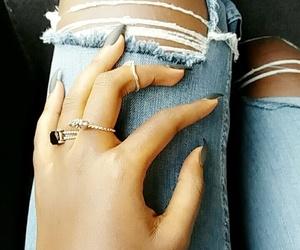 africa, black nails, and denim image