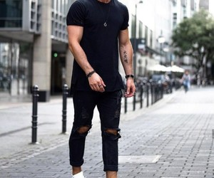 black, fashion, and men image