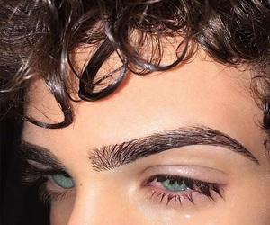 boy, eyes, and eyebrows image