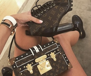 boots, shoes, and Louis Vuitton image