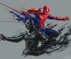 black panther and spiderman image