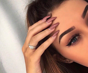 girl, makeup, and nails image