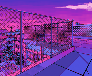 purple, pixel, and pink image