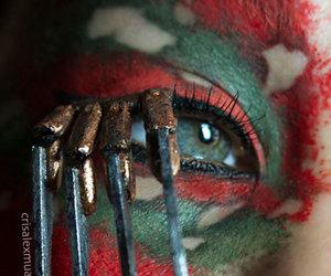 halloween make up ideas, halloween make up, and halloween eye make up image