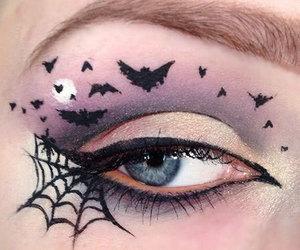 Halloween, makeup, and bats image