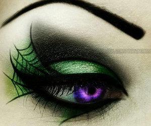 Halloween, makeup, and green image
