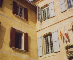 buildings, provence, and shutters image