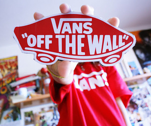 vans, red, and shoes image
