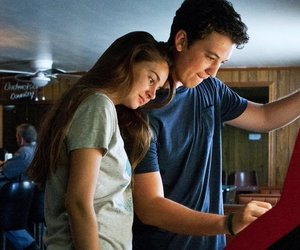 the spectacular now, miles teller, and Shailene Woodley image