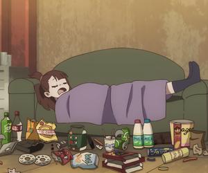 anime, food, and girl image