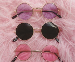 aesthetic, glasses, and pink image