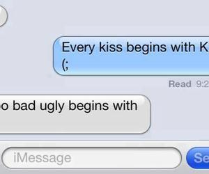 kiss, ugly, and text image