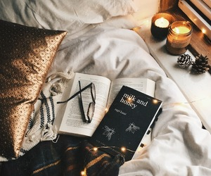 book, autumn, and candle image