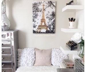room, bedroom, and paris image